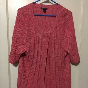 Cute plus-size shirt sleeved cardigan